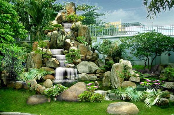 Thiết kế sân vườn tiểu cảnh đẹp